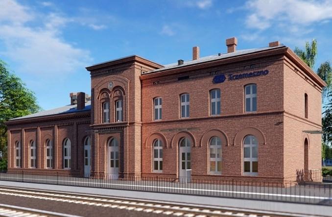 Dworzec Trzemeszno do remontu. 13 ofert [wizualizacje]