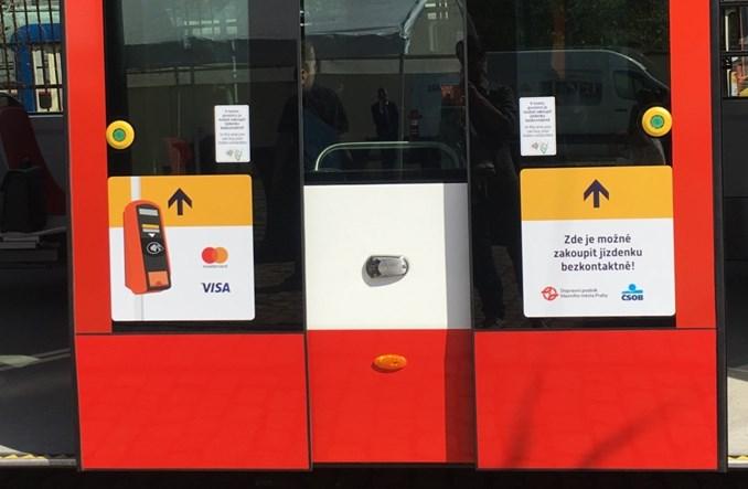 Praga. Wszystkie tramwaje z kasownikami do płatności kartą