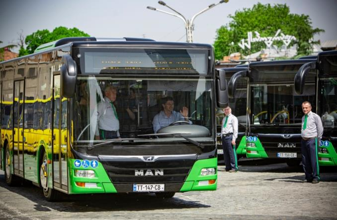 Tbilisi wprowadza do ruchu nowe MAN-y