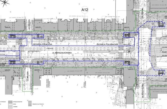 Metro: Założenia dla stacji Plac Konstytucji i Muranów [rysunki]