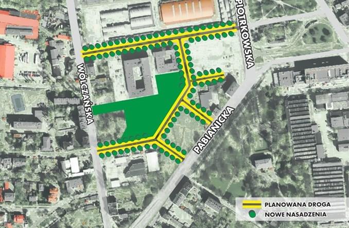 Łódź: Nowa sieć ulic przy Górniaku