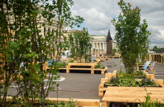 Warszawa. Plac Bankowy się zieleni i na wakacje pozbywa parkingu