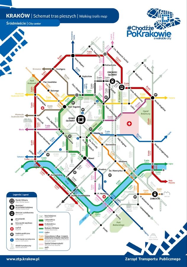 Krakow Zacheca Do Chodzenia Szybciej Niz Autem Transport