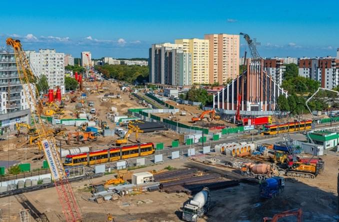 Metro na Bródno: Tramwaje pojadą inaczej. Będzie torowisko tymczasowe