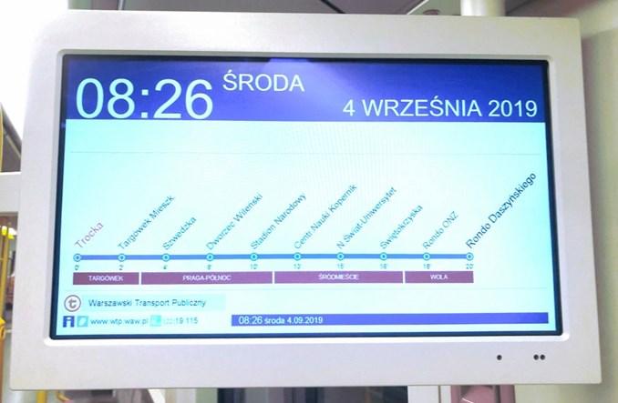 Metro na Targówek: Pociągi w ruchu ciągłym do Trockiej