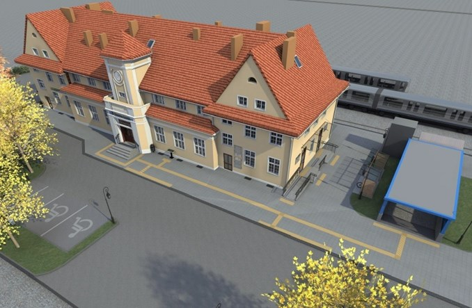 Dworzec w Prabutach pójdzie do remontu. Rusza przetarg (wizualizacje)