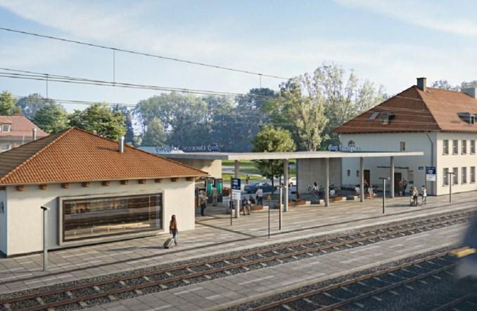 Dworzec w Olsztynku przejdzie metamorfozę. Umowa podpisana [wizualizacje]