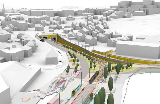 Bergen: Nowoczesne podejście do projektowania 9 km lekkiej kolei miejskiej