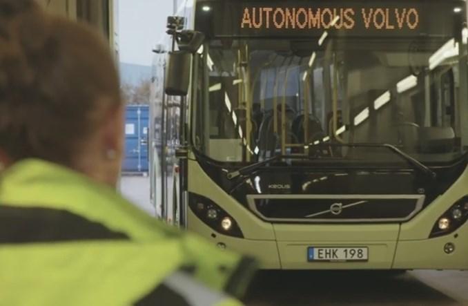 Goteborg. Autonomiczne Volvo jeździ samodzielnie po zajezdni [WIDEO]