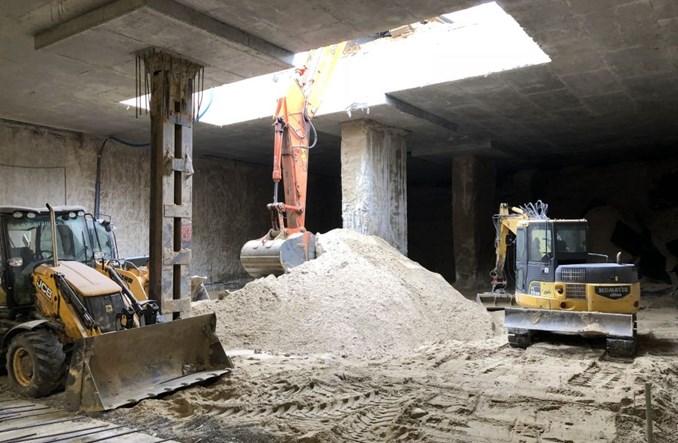 Metro: Kamień węgielny na stacji Bródno. Prace na poziomie -1