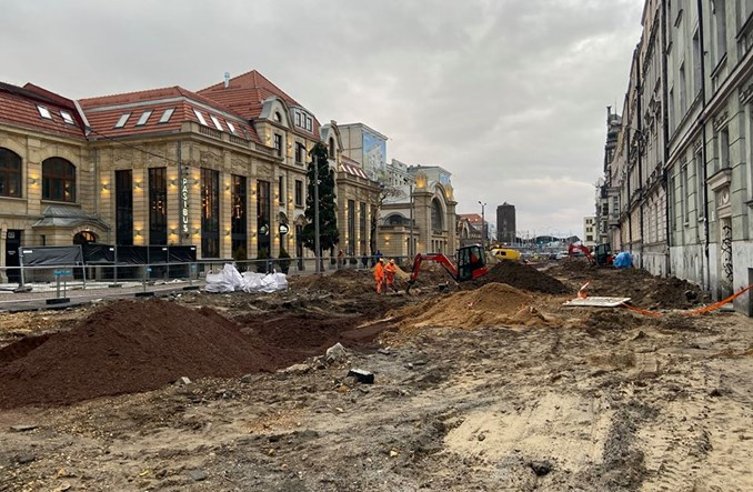 Katowice: Dworcowa staje się deptakiem miejskim