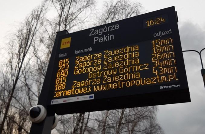 GZM: Więcej elektronicznych tablic ZTM do użytku pasażerów – w 11 miastach metropolii