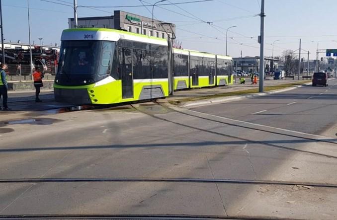 Olsztyn. Tramwaj Panorama wykoleił się podczas jazd testowych
