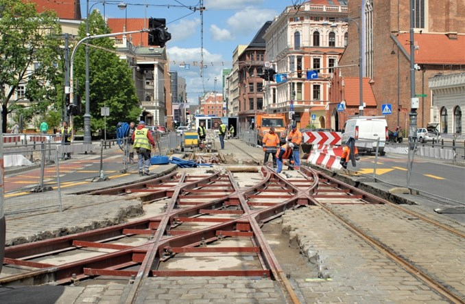 MPK Wrocław wymienia i naprawia infrastrukturę tramwajową