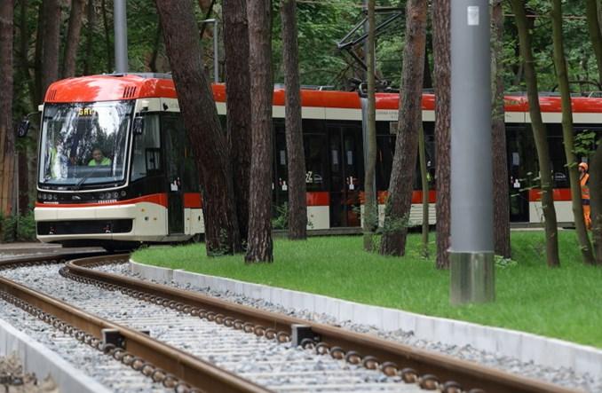 Gdańsk: Tramwaj testowo na trasie do plaży na Stogach [zdjęcia]