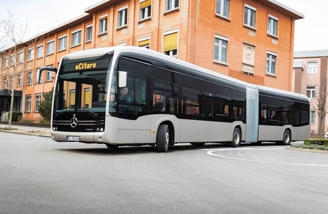 Przegubowy eCitaro G uzupełnia ofertę elektrobusów Mercedesa