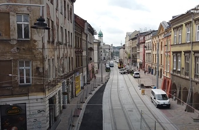 Kraków: Przebudowa Krakowskiej dobiega końca. Powrót tramwajów w połowie sierpnia?