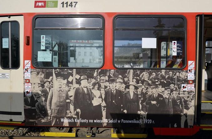 Gdańsk. Tramwaj na 100. rocznicę Powstania Śląskiego