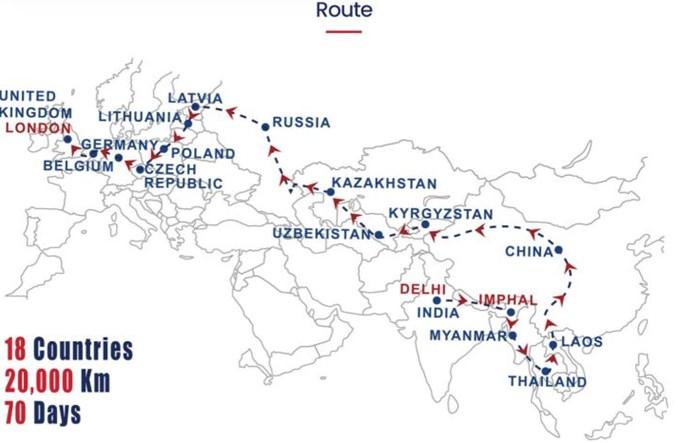 Autobus pojedzie z Indii do Londynu przez Polskę w 70 dni