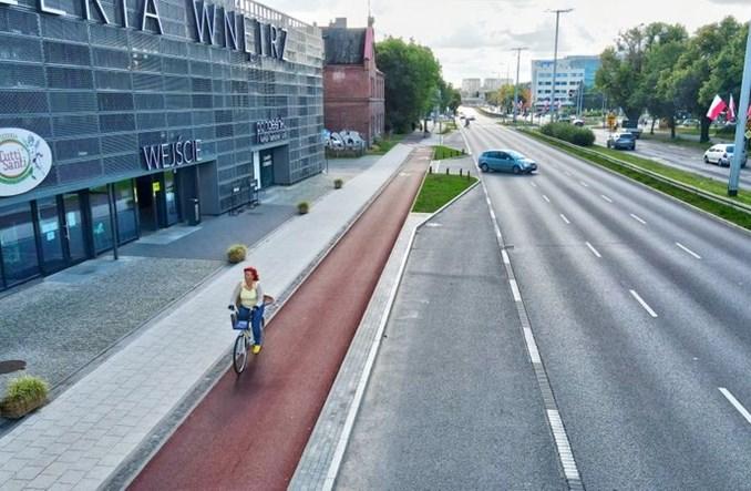 Gdańsk: Na al. Grunwaldzkiej zakończono budowę drogi rowerowej i remont jezdni