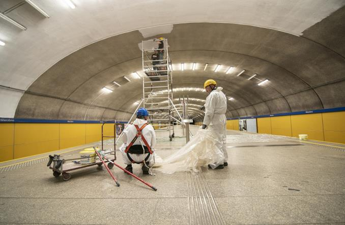 Metro: Stacja Wierzbno do odmalowania