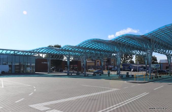 Łomża z nowym dworcem autobusowym