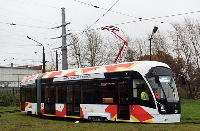 Nowy tramwaj Bogatyr-M rozpoczął próbną eksploatację w Czerepowcu