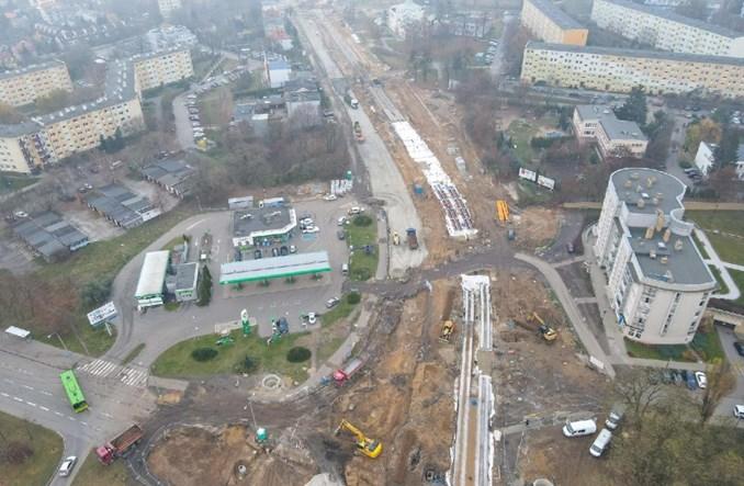 Poznań: Coraz więcej torowiska dla tramwaju na Naramowice