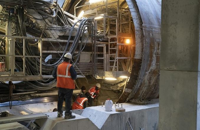 Metro na Bródno: Trwają prace na poziomie -2, powstają wyjścia