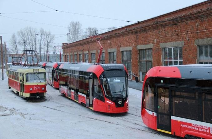 Nowe tramwaje wyjechały na ulice Iżewska [zdjęcia]