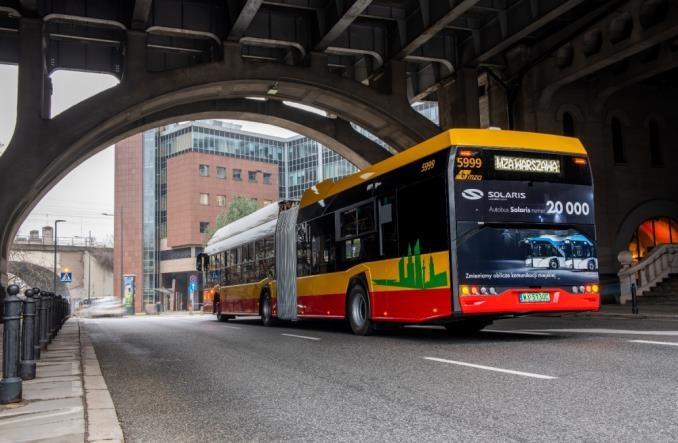 Warszawa: Prawie 12% autobusów MZA ma napęd elektryczny