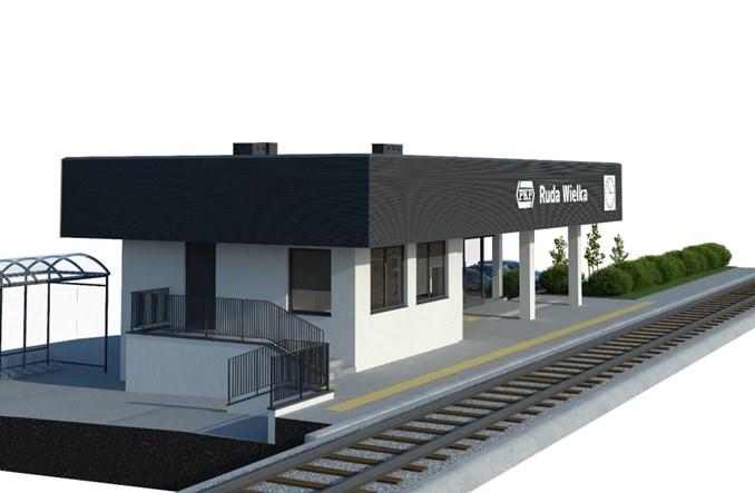 Dworzec Ruda Wielka zostanie przebudowany. Jest przetarg [wizualizacje]