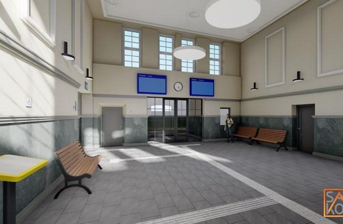 Dworzec Olesno Śląskie do przebudowy. Jest przetarg [wizualizacje]