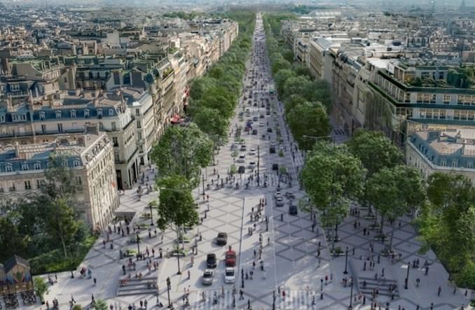 Paryż. Pola Elizejskie zmienią swój wygląd. Więcej zieleni i przestrzeni dla pieszych