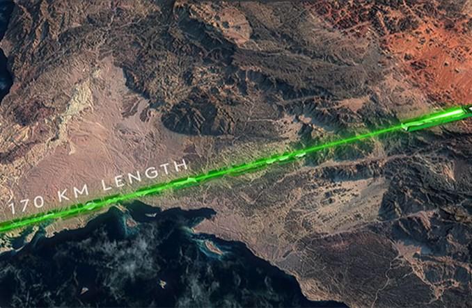 """Arabia Saudyjska: Projekt linearnego """"miasta przyszłości"""" z superszybką koleją"""