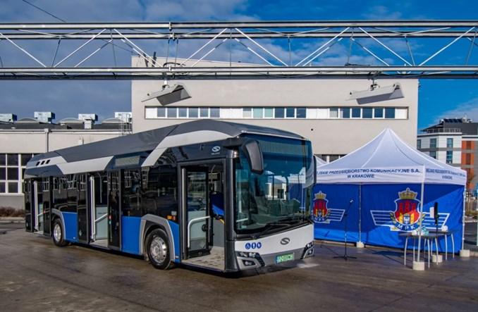 Zasilany wodorem autobus po raz pierwszy w Krakowie. Na jeden dzień