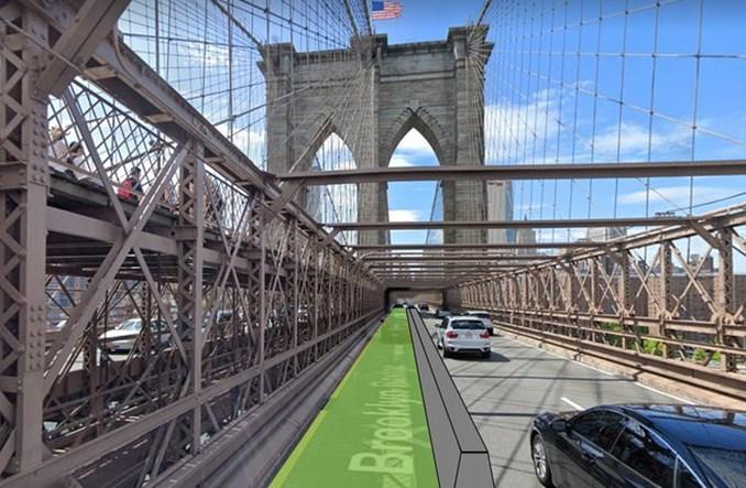 Nowy Jork. Na moście Brooklińskim wreszcie powstanie droga rowerowa