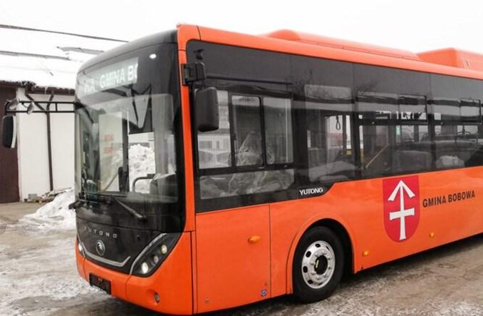 Pierwszy autobus Yutonga w Polsce. Dotarł do Bobowej