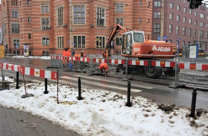 Wrocław: Kolejne remonty tramwajowe. Prace na Podwalu, przy Dolmedzie i Kutnowskiej