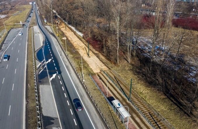 Kraków: Trwa przebudowa torów wzdłuż ul. Ujastek Mogilski [zdjęcia]