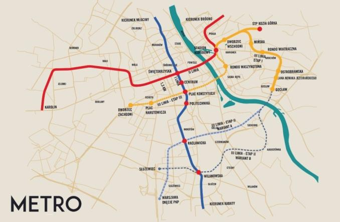 Warszawa: III linia metra szansą na policentryczny rozwój i pobudzenie prawego brzegu