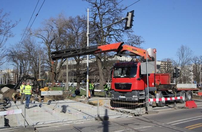 Wrocław: Trwają prace na Złotoryjskiej. Ale nie w miejscu odkrytych trumien