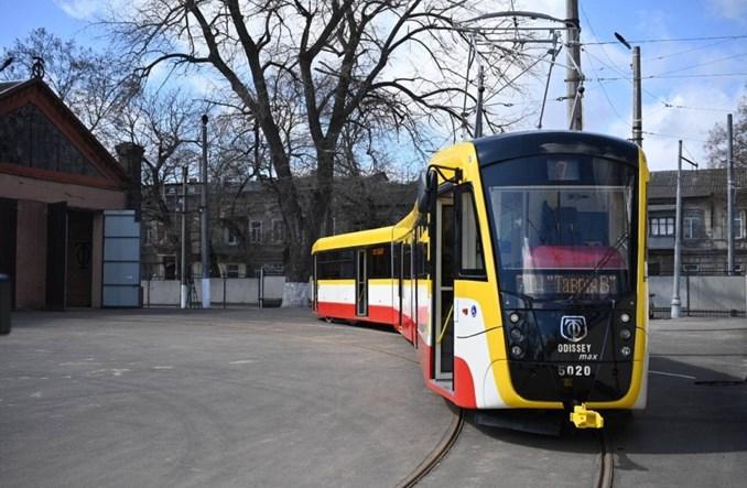 Odessa z trzecim tramwajem Odissej Max