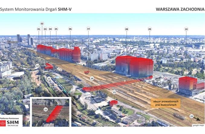 Przebudowa Warszawy Zachodniej: Największy system monitorowania drgań w Polsce
