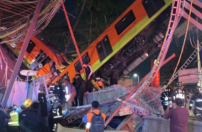 Katastrofa w Meksyku. Zawaliła się estakada metra