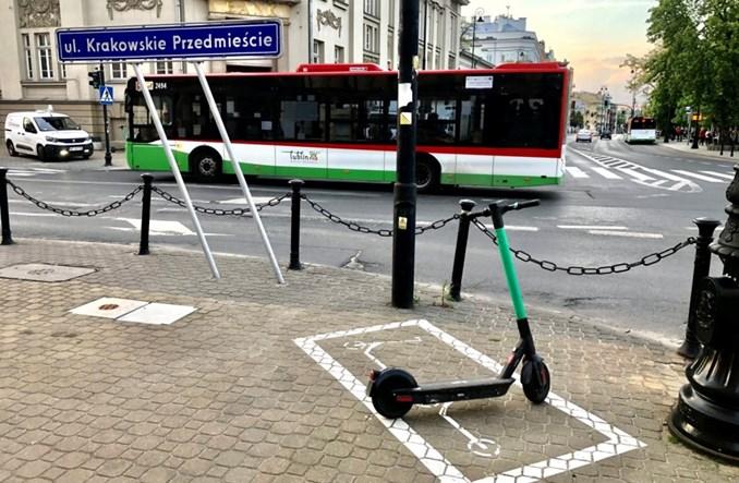 Lublin: Liczba wyznaczonych parkingów dla e-hulajnóg wzrośnie do 100
