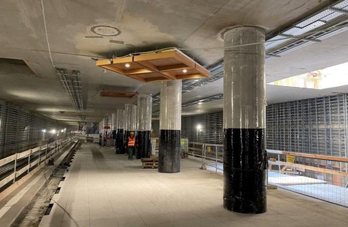Metro na Bemowo: Próbne elementy wystroju na stacjach