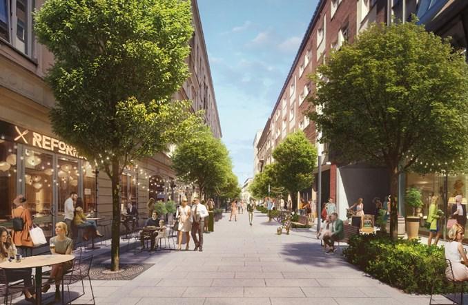 Chmielna w centrum Warszawy się zazieleni