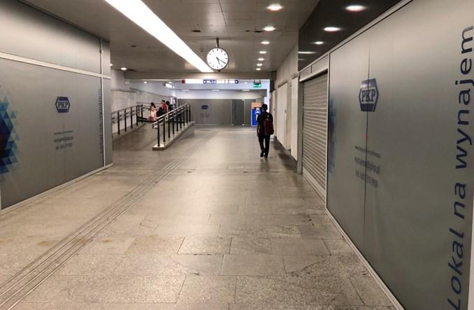 Wywiało handel z dworca Warszawa Centralna