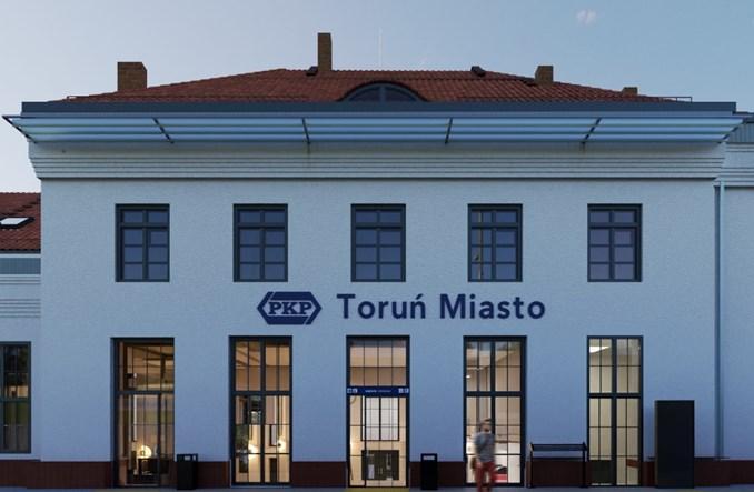 PKP SA przebudują dworce Toruń Wschodni i Miasto. Przetarg [wizualizacje]